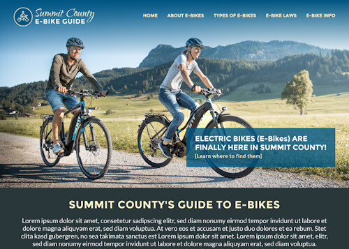 Summit County E-bikes Guide